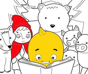 Disegni Racconti per bambini da colorare