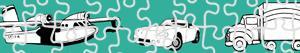 Disegni Puzzles di Transporti da colorare