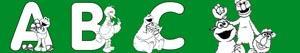 Disegni Alfabeto di Sesame Street da colorare