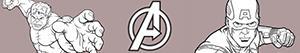 Disegni Avengers. I Vendicatori da colorare