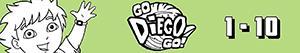 Disegni Contare da 1 a 10 con Diego e gli animali da colorare